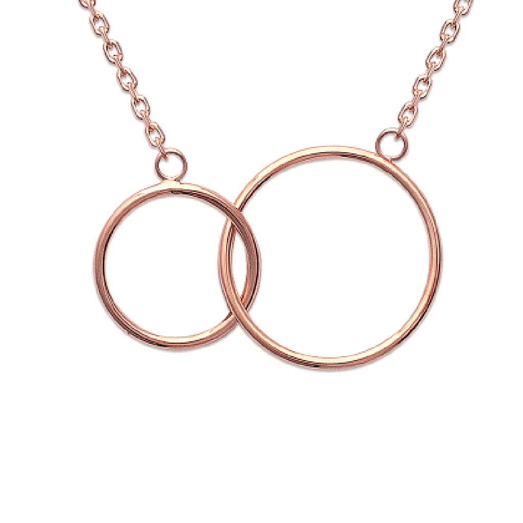 Lola Mother Daughter 18K Rose Gold Plated Necklace | Avenue Petit Lou