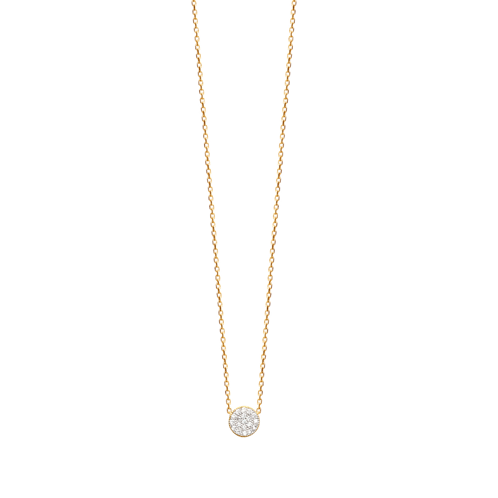 Amie 18K Gold Plated Necklace with Cubic Zirconia | Avenue Petit Lou
