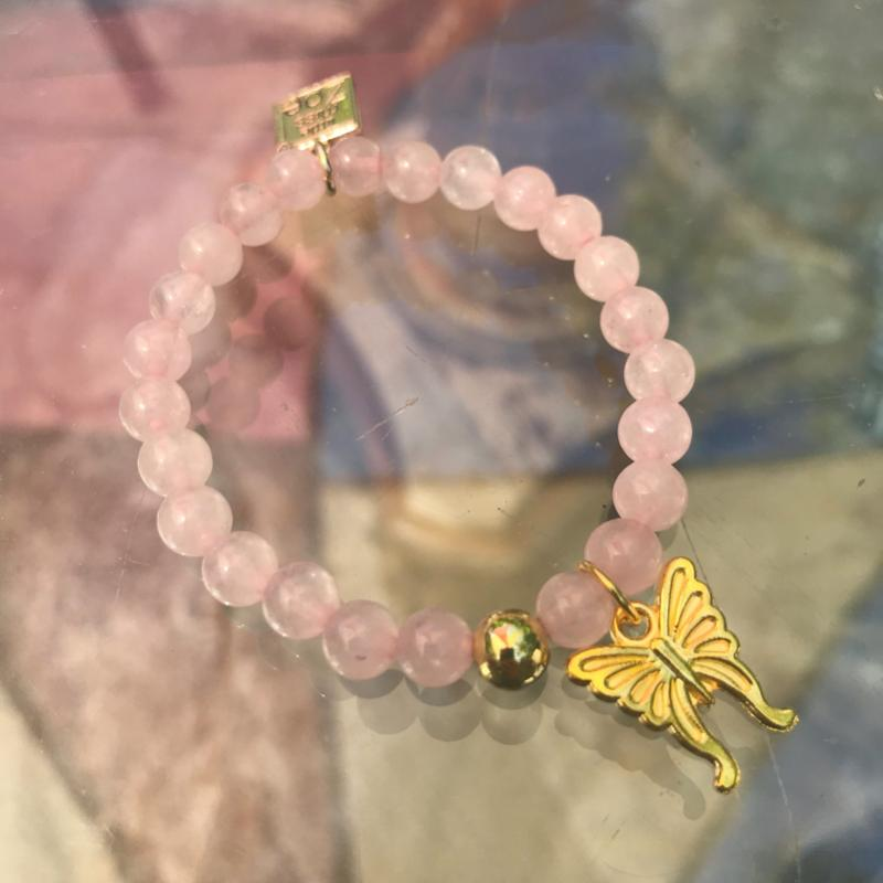 Stretch CHARM Bracelets - Gold Butterfly | Avenue Petit Lou