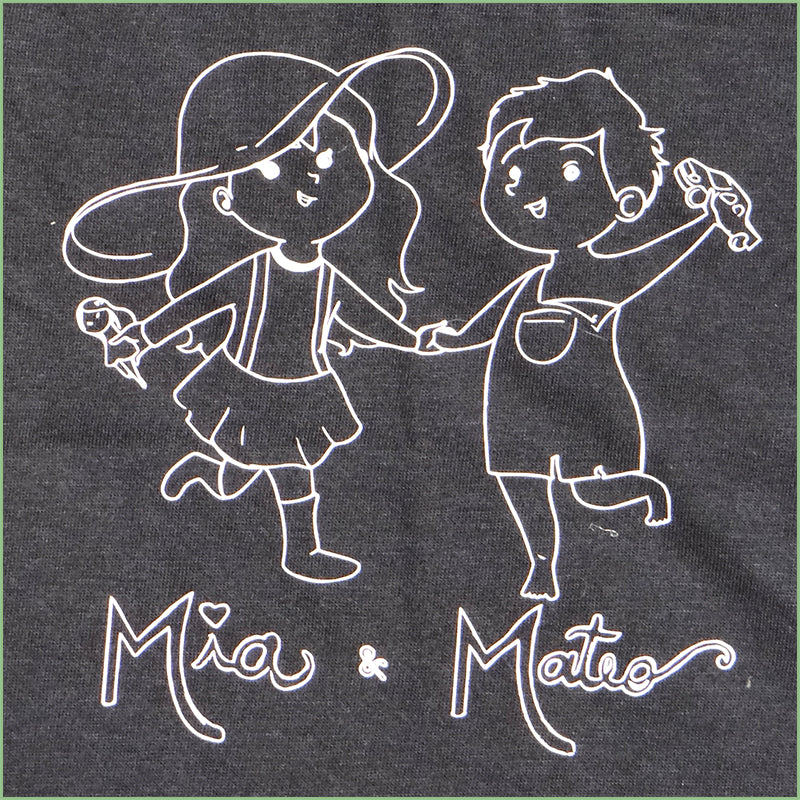 "Organic Cotton  Toddler T-Shirt - ""Mia & Mateo"" 