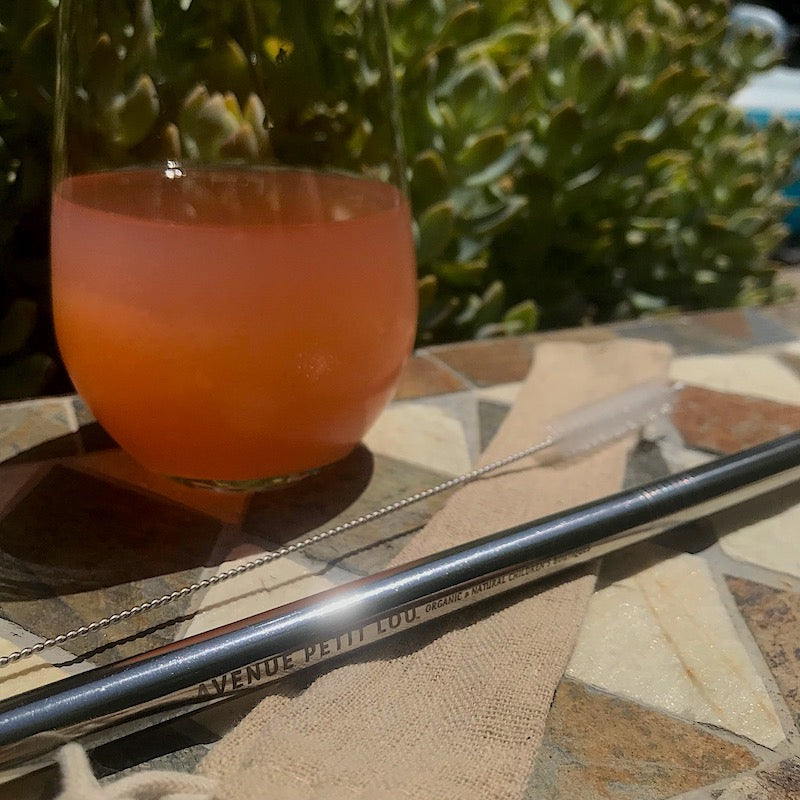 Large Reusable Stainless Steel Straws - Avenue Petit Lou