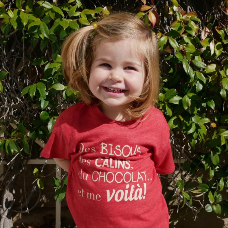 Kids Organic Pink T-shirt - French Designs | Avenue Petit Lou