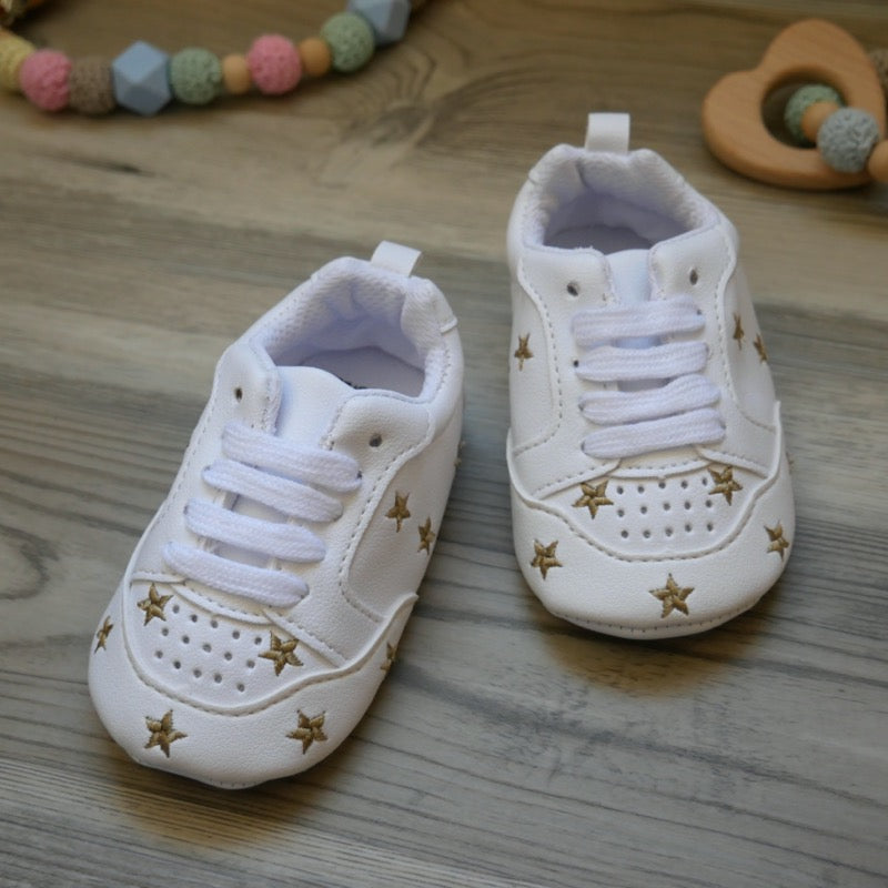White Star Tennis Baby Shoes  | Avenue Petit Lou