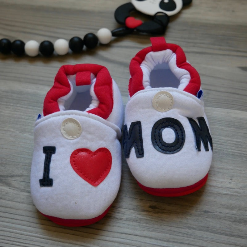 I Love Mom Baby Shoes | Avenue Petit Lou