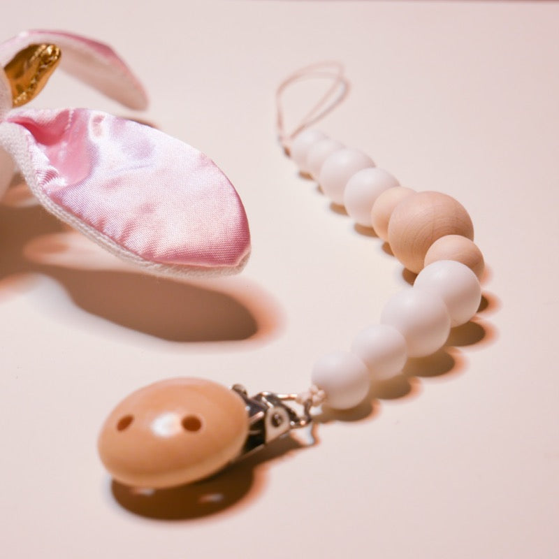 Pacifier Clip - Silicone + Organic Wood | Avenue Petit Lou