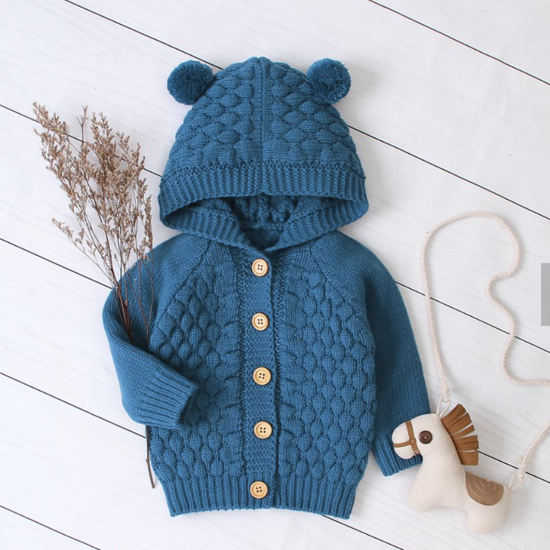 Knitted Hooded Jackets | Avenue Petit Lou
