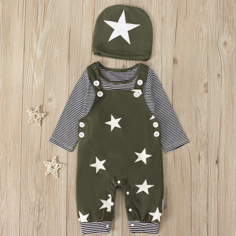 3-Piece Star Overall Set | Avenue Petit Lou