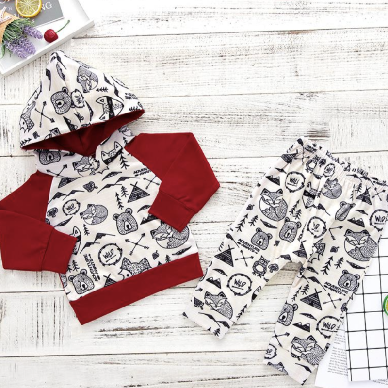 2-Piece Adventure Hoodie Set | Avenue Petit Lou