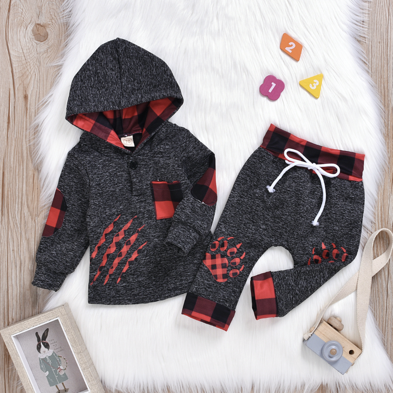 2-Piece Red Bear Hoodie Set