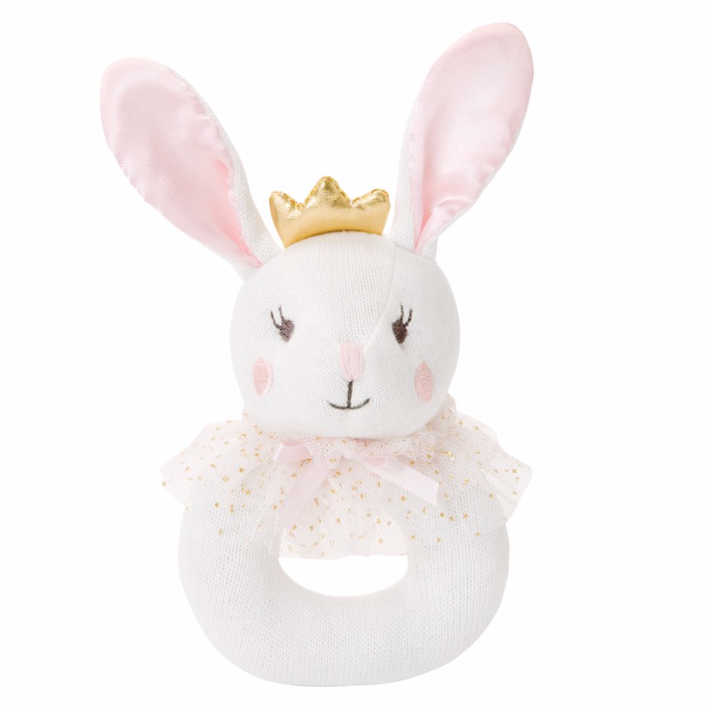 Bella Bunny Baby Ring Rattle | Avenue Petit Lou