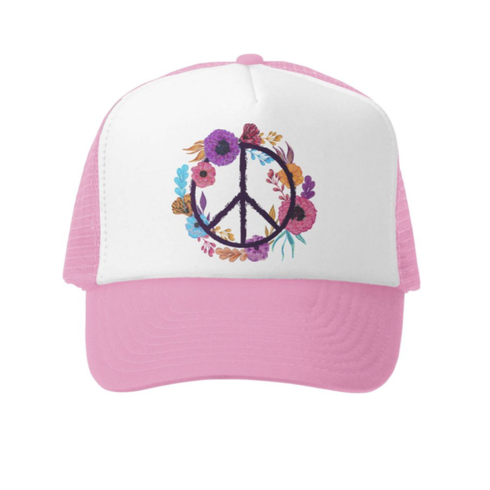 Boho Peace Trucker Hat | Avenue Petit Lou