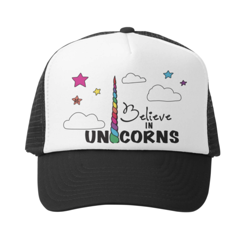 Believe In Unicorns Kids Trucker Hat | Avenue Petit Lou