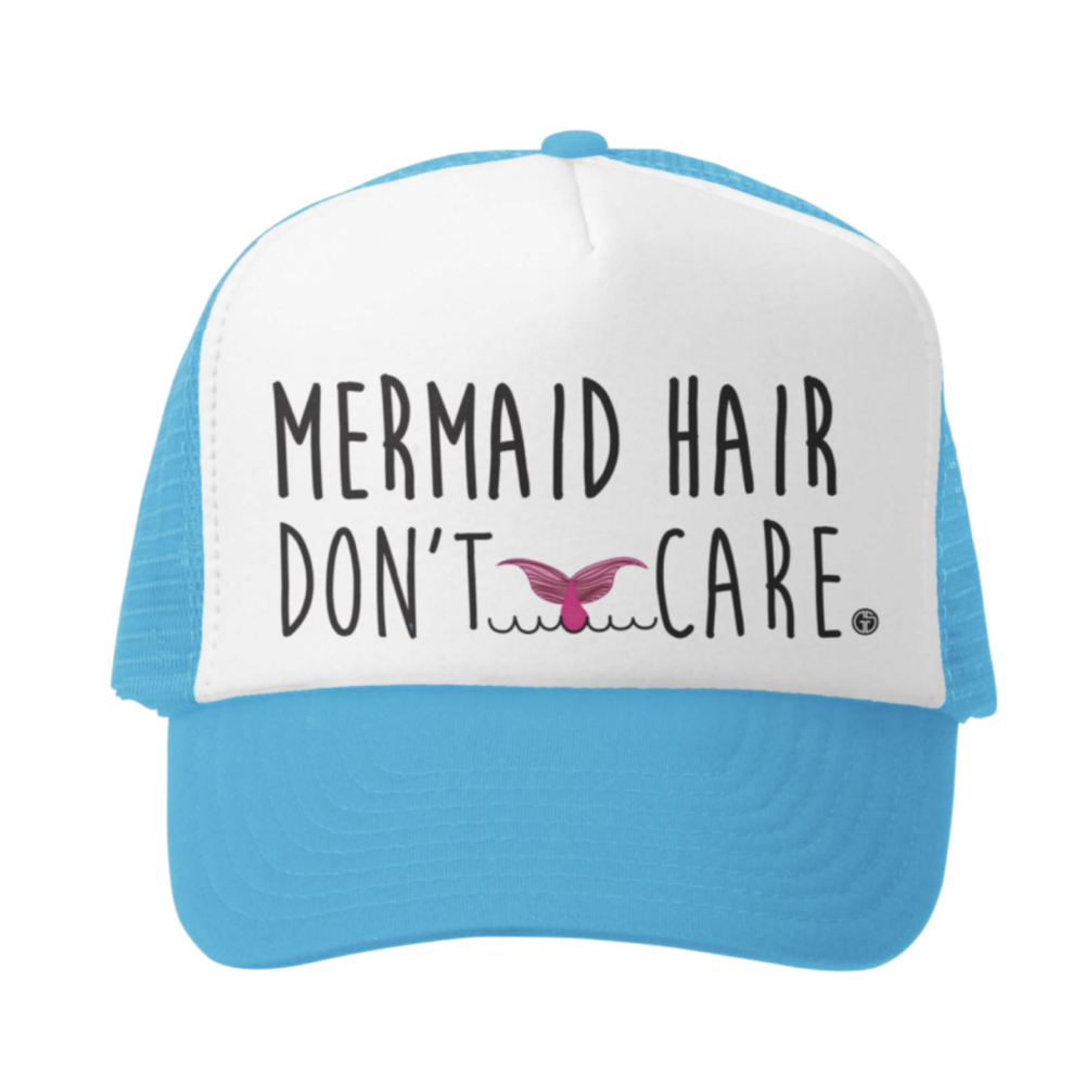 Mermaid Hair Don't Care Kids Trucker Hat