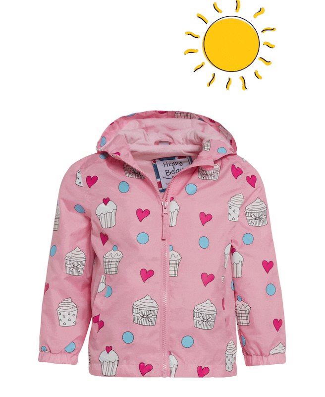 Cupcake Color Changing Raincoat - Avenue Petit Lou