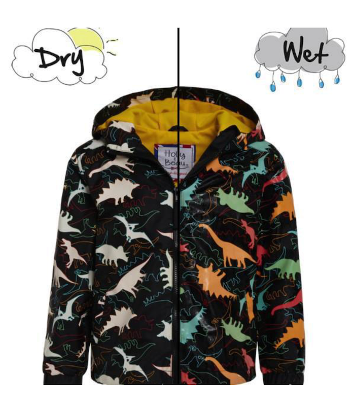 Dinosaur Color Changing Raincoat - Avenue Petit Lou