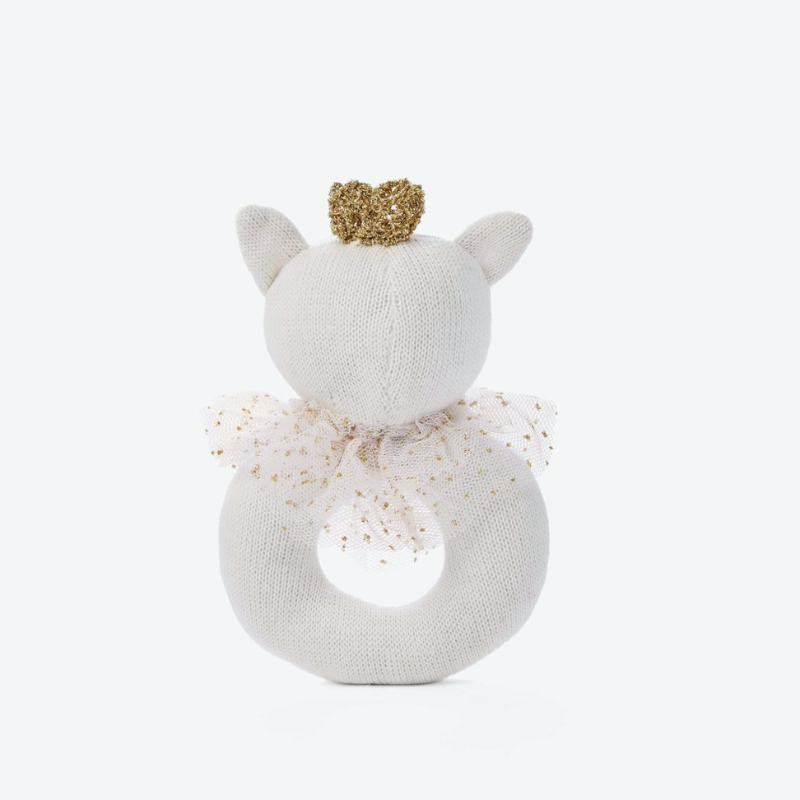 Princess Kitty Baby Ring Rattle | Avenue Petit Lou