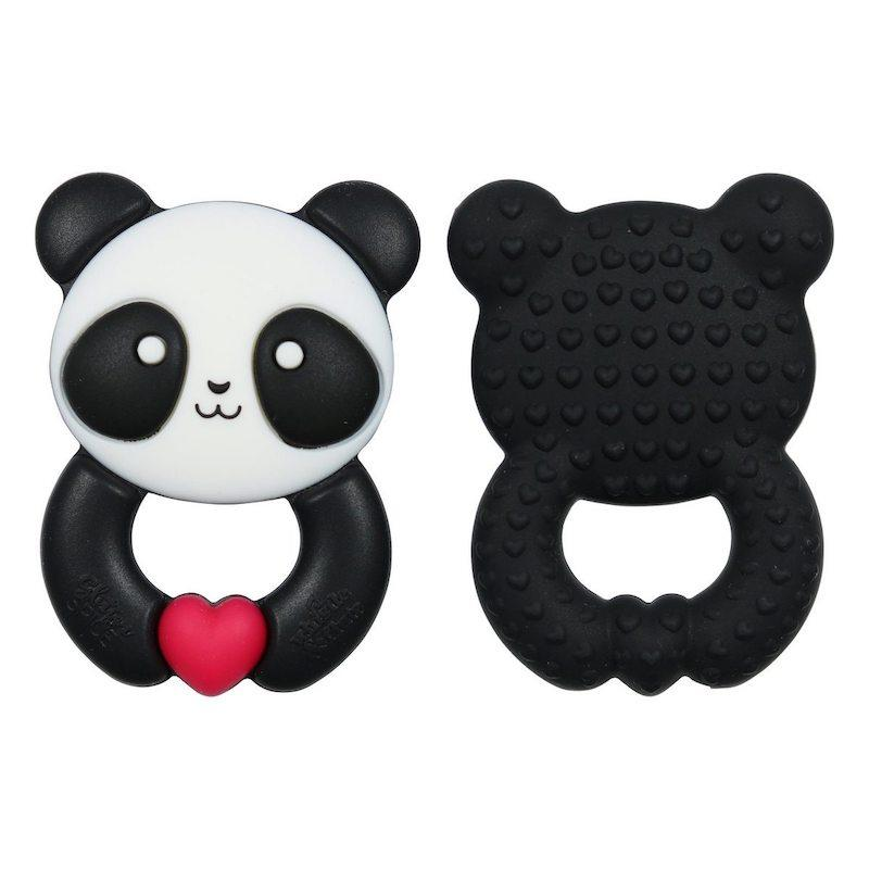 Baby Teething Panda + Pacifier Clip - Avenue Petit Lou