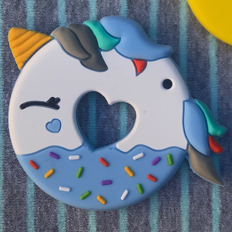 Silicone Unicorn Donut Teether - BPA Free - Avenue Petit Lou