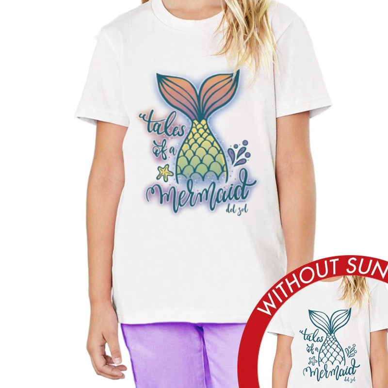 Kid's Crew Tee - Tales of a Mermaid | Avenue Petit Lou