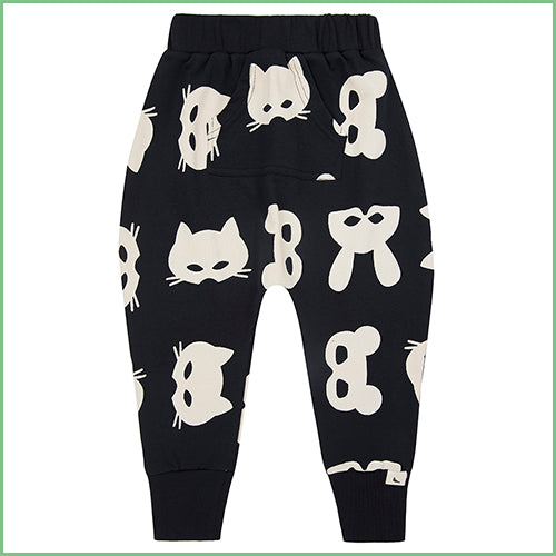 Organic Cotton Harem Sweatpants - Mask Print | Avenue Petit Lou