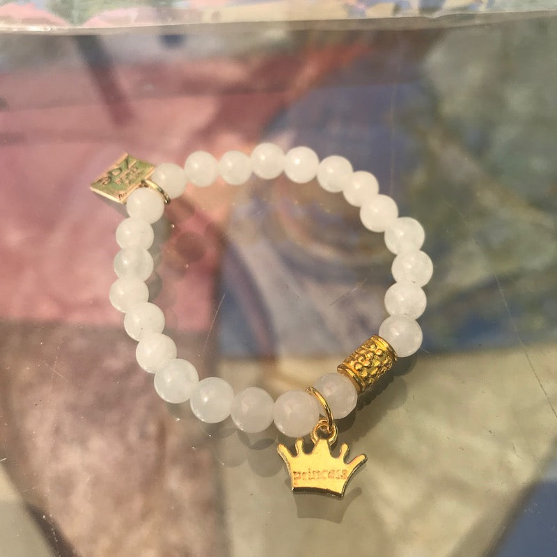 Stretch CHARM Bracelets - Gold Crown | Avenue Petit Lou