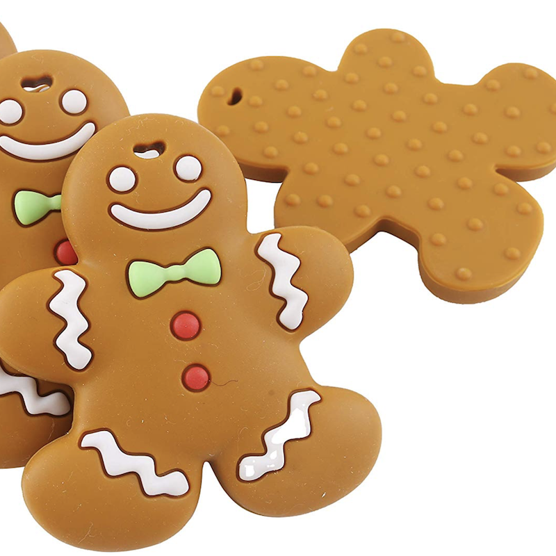 Silicone Gingerbread Man Teether - Avenue Petit Lou