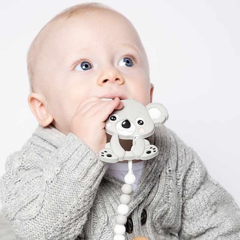 Baby Teething Koala + Pacifier Clip - Avenue Petit Lou