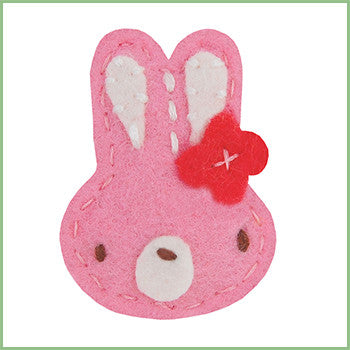 Pink Bunny Hair Clips for Babies | Avenue Petit Lou