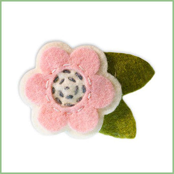 French Barrette | Pink Flower | Avenue Petit Lou