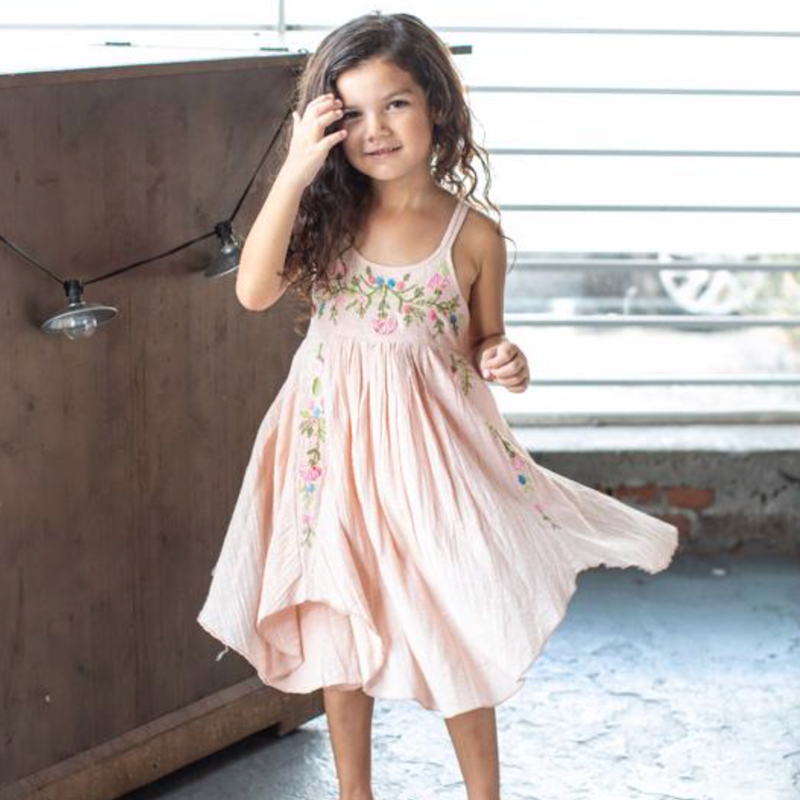 Trailing Blossoms Dress Blush - Avenue Petit Lou