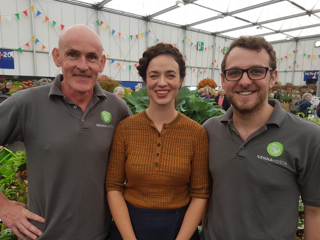 Chris and Ollie of Sienna Hosta with Frances Tophill
