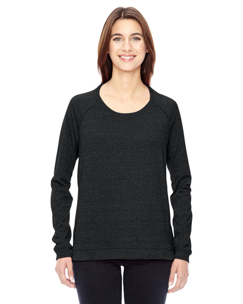Ladies Eco Mock Twist Locker Room Pullover