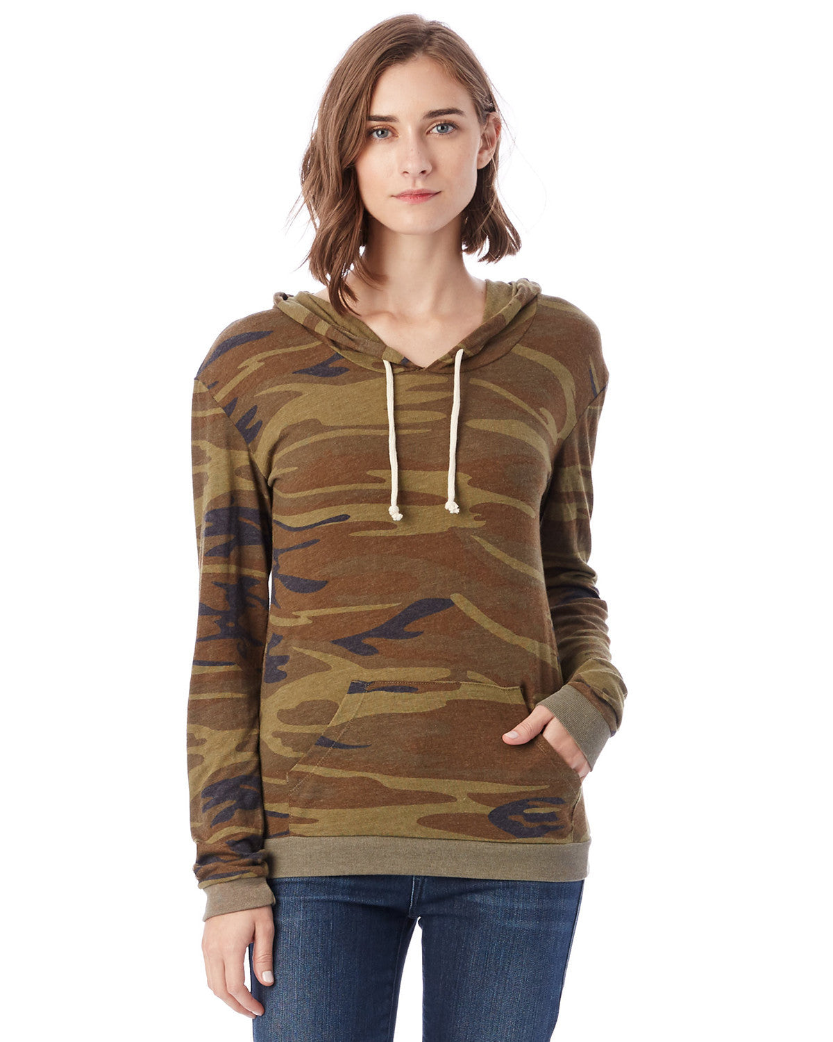 Ladies Eco-Jersey Classics Hooded Pullover T-shirt