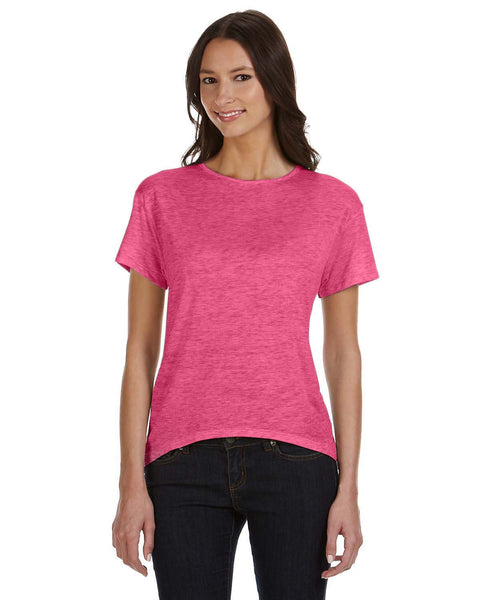 Ladies Melange Burnout The T-shirt