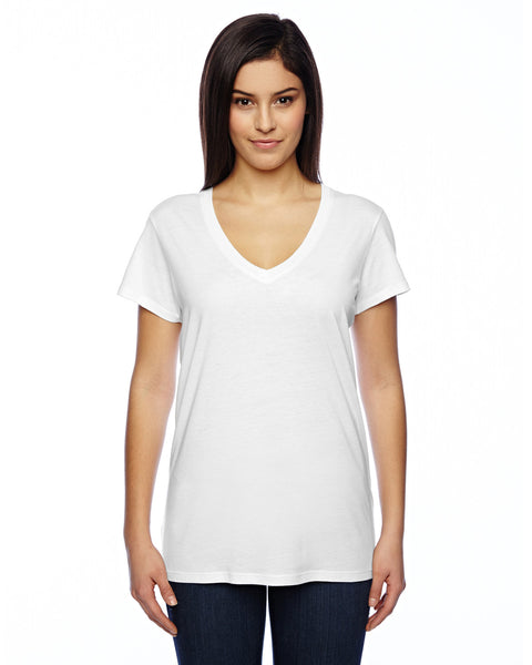 Ladies Cotton Modal V-neck T-shirt