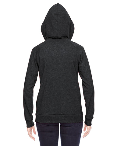 Ladies Eco-Mock Twist Adrian Hooded Full-Zip Sweatshirt