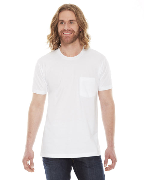 American Apparel Unisex Fine Jersey Pocket Short Sleeve T-Shirt