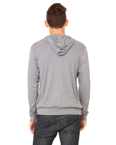 Bella Canvas Unisex Triblend Lightweight Full-Zip Hooded Tee