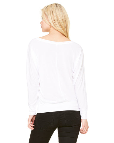 Ladies Flowy Long Sleeve Off Shoulder Tee