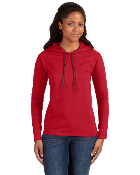 Ladies Hooded Long Sleeve T-shirt