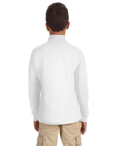 Jerzees Nublend Youth Quarter-zip Cadet Collar Sweatshirt