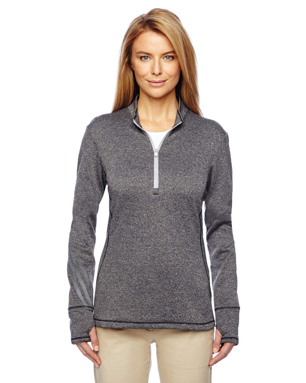 Golf Ladies Brushed Heather 1/4 Zip Pullover