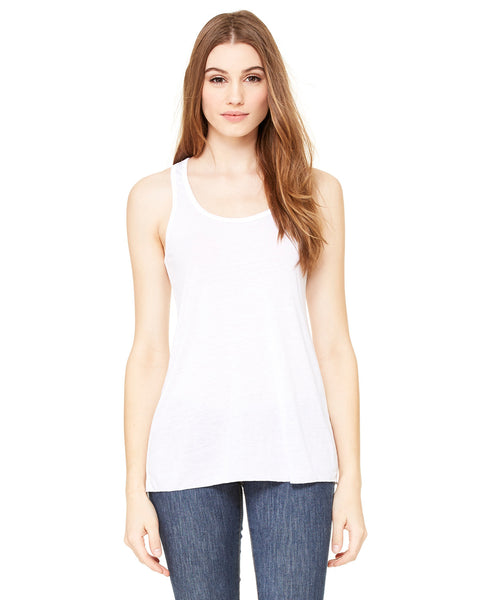 Bella Ladies Flowy Racerback Tank