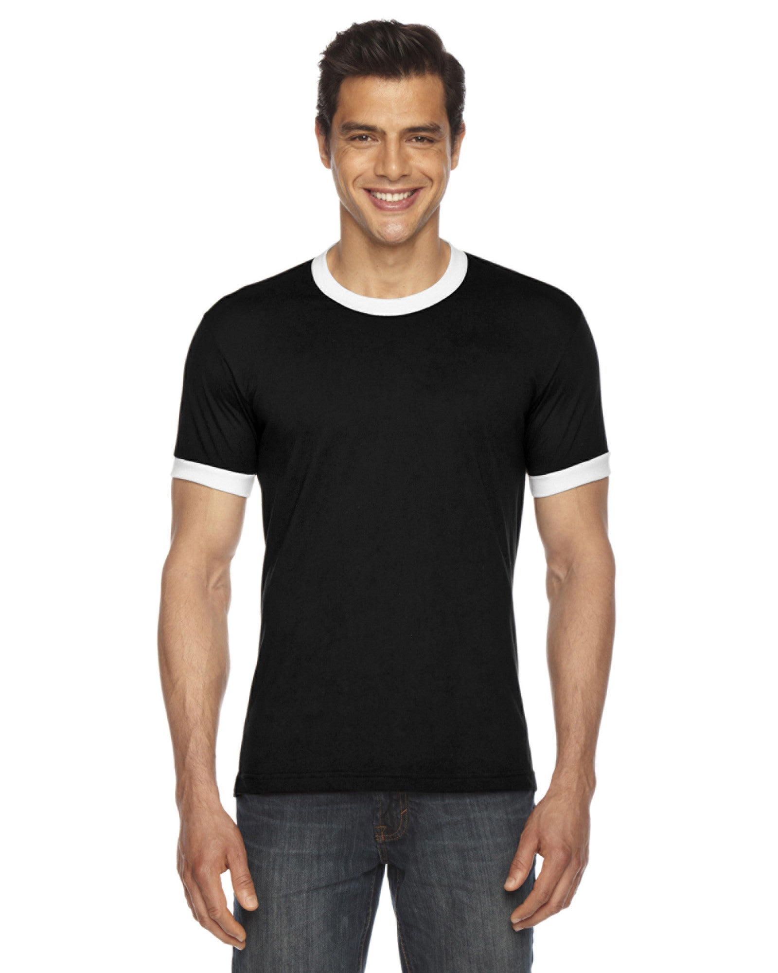 American Apparel Unisex Poly-Cotton Short Sleeve Ringer T-Shirt