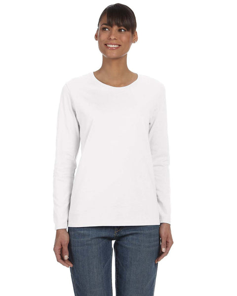 Gildan Ladies Heavy Cotton Long Sleeve T-shirt