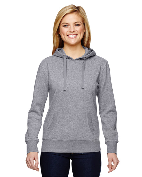 Ladies Three-Quarter Sleeve Hooded Slub Tee