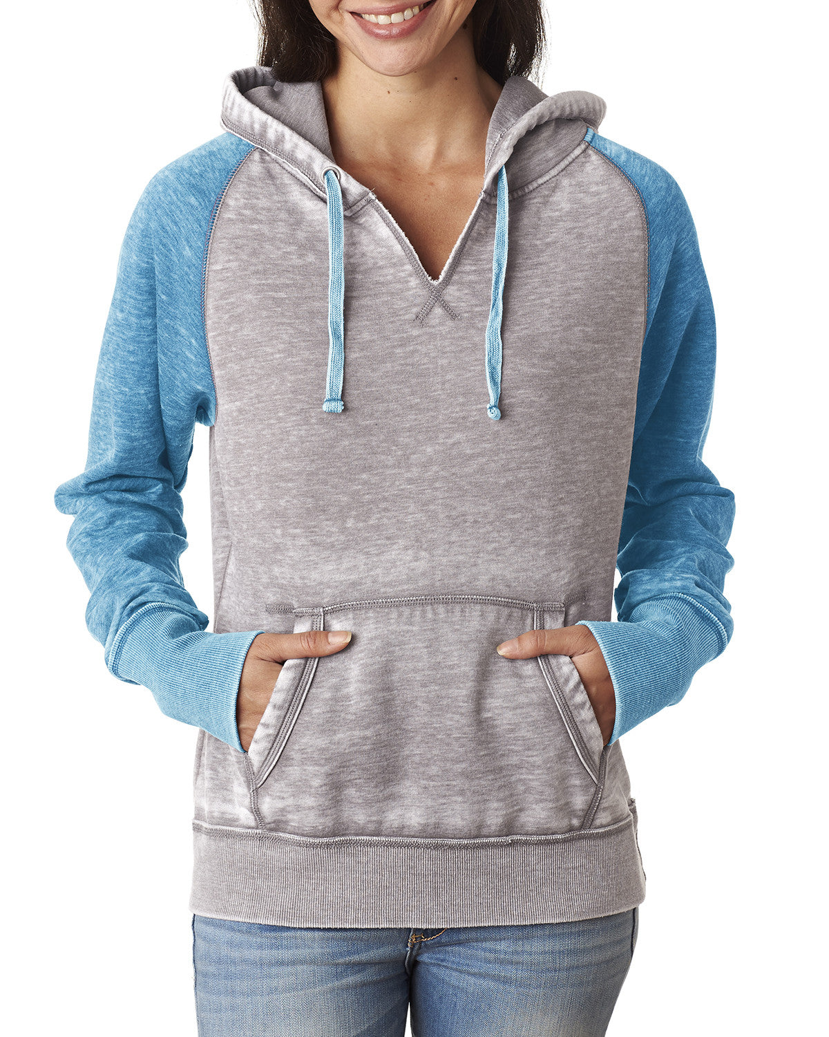 Ladies Zen Fleece Raglan Sleeve Hooded Sweatshirt
