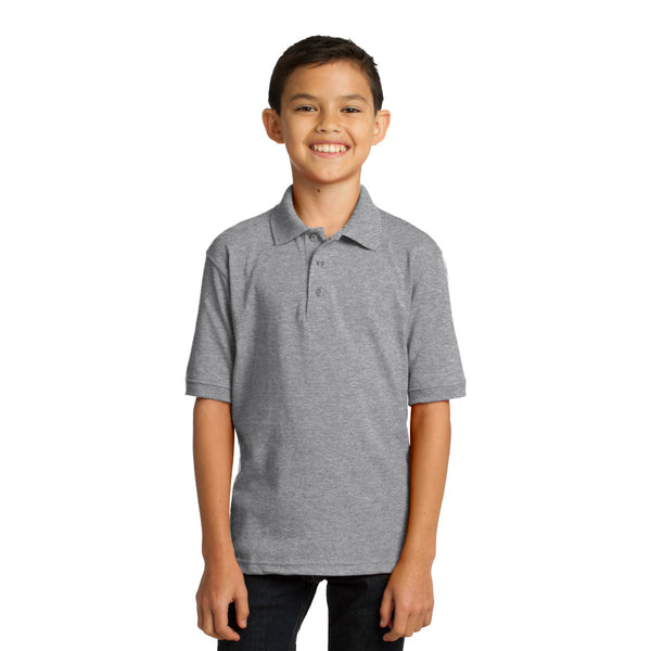 Port & Company Youth Core Blend Jersey Knit Polo