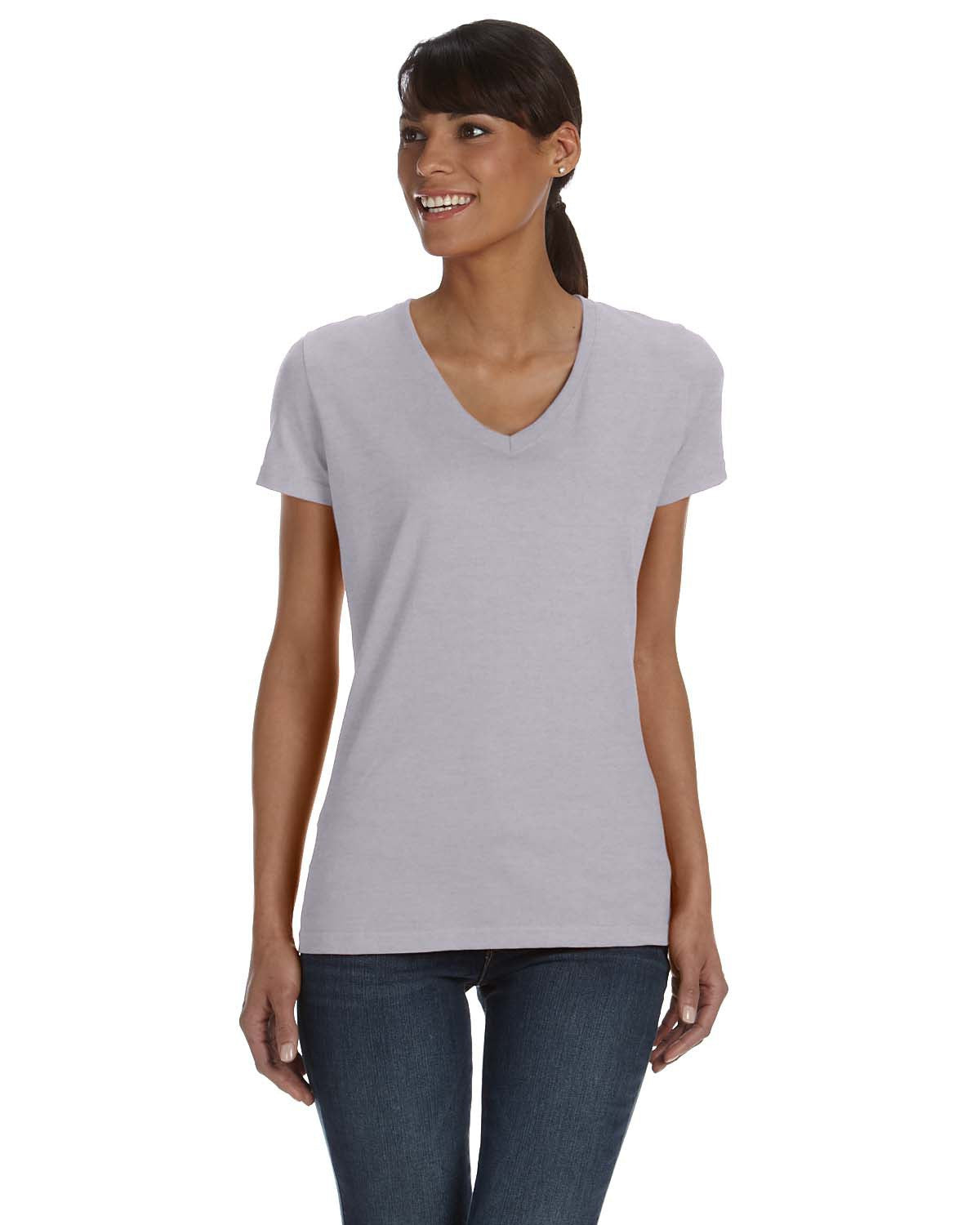 Fruit of the Loom Ladies HD Cotton V-neck T-shirt