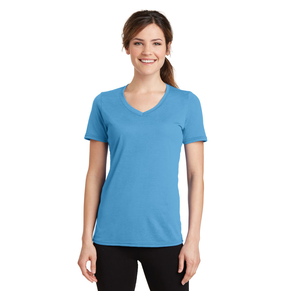 Port & Company Ladies Performance Blend V-Neck Tee